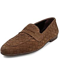 tresmode Mens Casual Woven Loafers