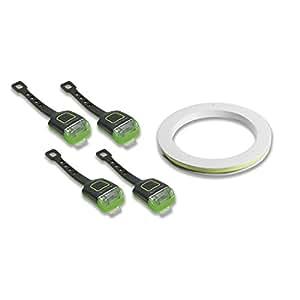 Glow Garage Fun-Leuchtstreifen für Fahrradfelgen (5 Teiliges Set) Fahrradbeleuchtungsystem, Neongrün, one size