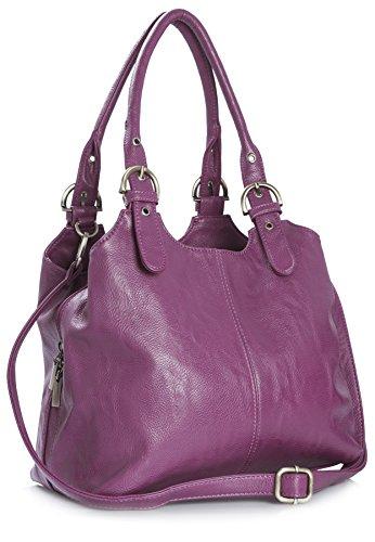 Big Handbag Shop, Borsa a mano donna Viola (Mittlere Lila)