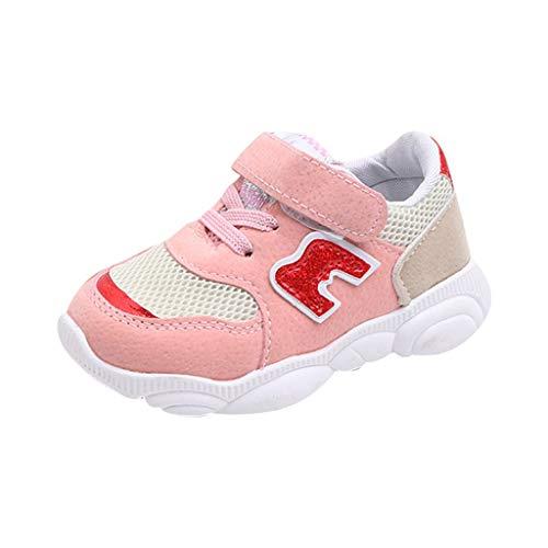 koperras Kinder Jungen und Mädchen tragen unten Buchstaben Mesh Turnschuhe Laufschuhe Freizeitschuhe Agan Schuhe Modetrend bequemen Wilden Klettverschluss