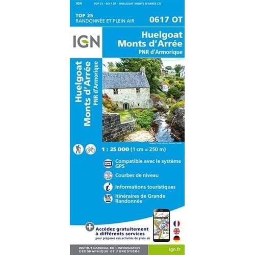 Huelgoat, Monts d'Arrée, PNR d'Armorique : 1/25 000