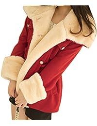 Abrigos Chaqueta De Algodón Del Invierno Para Mujer Rojo L