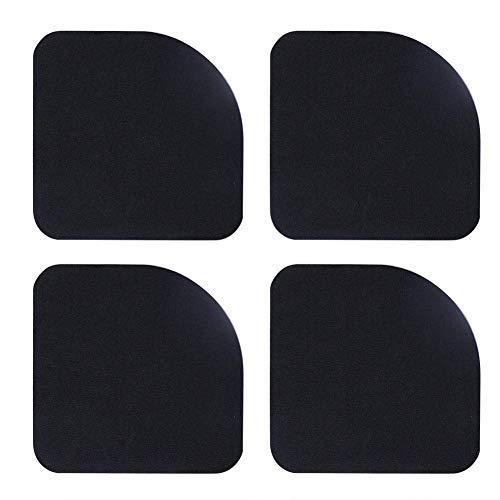 Vektenxi 4pcs Square Mute Shock Mat, Anti-Vibrations-Pads Universal Rubber Silent Feet Pads für Waschmaschine Kühlschrank Haushaltsgerät Langlebig und nützlich (Silent Feet-anti-vibration)