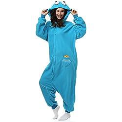 Disfraz diseño de monstruo de las galletas, cosplay, unisex para adultos, forro polar