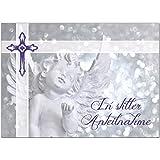 1 x Beileidskarte mit Umschlag/Motiv In stiller Anteilnahme Engel/Beerdigung, Trauer, Sterbefall, Tod/Anteilnahme/Beileid
