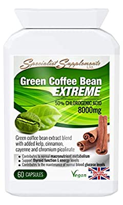 Specialist Supplements Green Coffee Bean Extreme Weight Loss Formula 60 Capsules by Specialist Supplements