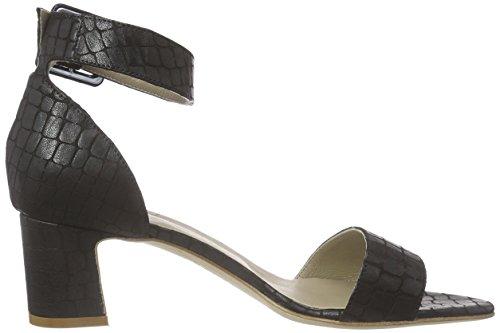 Noe Antwerp Noki Sandal, Sandales Bride cheville femme Noir - Noir