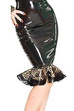 Westward Bound Bordelle-L'Amour Kick Pleat Skirt, Black with Pearl Sheen Gold Trim