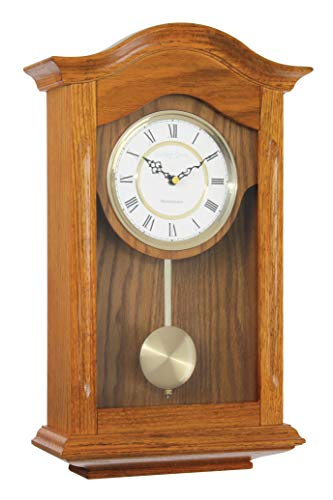 London Clock Horloge Murale Traditionnelle en chêne 14 x 55 x 35 cm