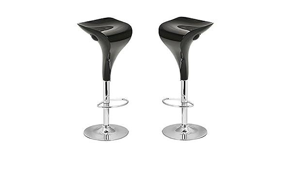 Coppia 2 sgabelli neri in abs per cucina bar ristorante: amazon.it