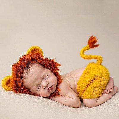 Imagen de thee disfraz de fotografía de león bebé recién nacido alternativa