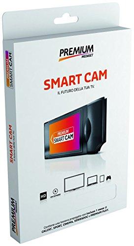 Mediaset Premium MA38NEWIFI Camera HD e tessera Premium prepagata ricaricabile, Wi-Fi, Nero/Antracite