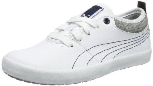 Puma Elsu L Jr 355243 Unisex-Kinder Sneaker Weiß (white-limestone gray-peacoat 02)