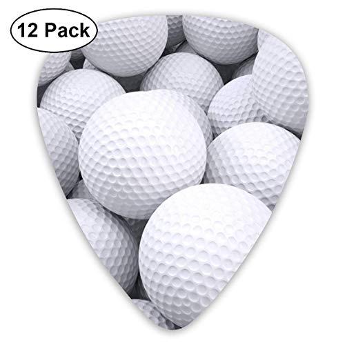 Muster der Golfball-3D 351 form klassische celluloid plektrum für elektrische akustische mandoline bass 0,46mm 0,73mm 0,96mm (12 count) -