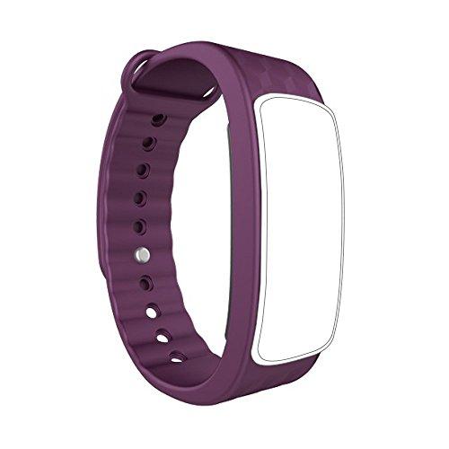 endubro Cinturino per Fitness Tracker i3HR & i7HR   i6HR   i6HR C & Molti Altri Modelli Realizzato in TPU Skin-Friendly con Chiusura antiallergica (Viola)