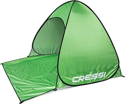Cressi Beach Tent Strandmuschel, Grün, 165x150x110 cm