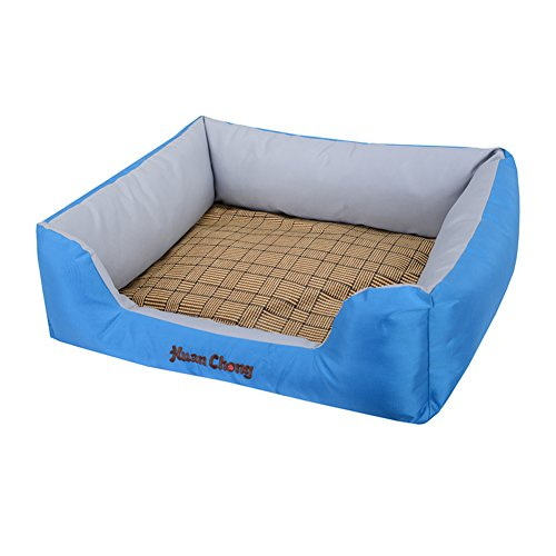 Dsaqao base di cassa del cane per l'estate, prova di graffio resistente all'acqua lavabile estraibile letto animali tombolo nido domestico gatto dell'animale domestico letto-blu medio