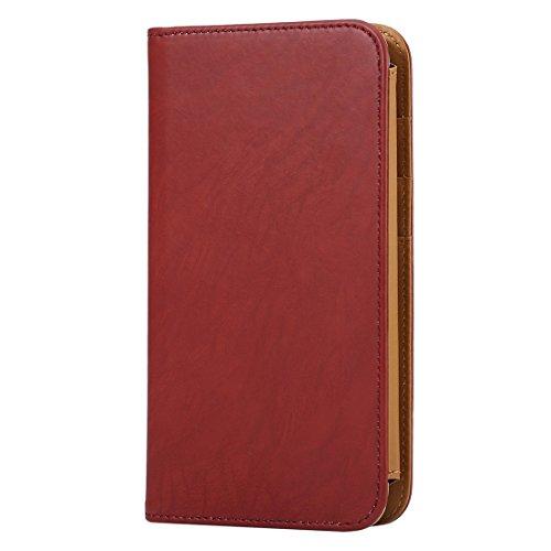 DaYiYang Case Cover Brieftasche Stil Horizontale Flip Leder Tasche mit Foto Frame & Card Slots & Wallet & Lanyard für Samsung Galaxy S7 / iPhone 6 / Sony Xperia Z5 / Huawei Honor 7i ( Color : Khaki ) Brown