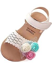 5ec7b96acdd YWLINK 3 Colores Verano Infantiles NiñOs BebéS Chicas Encantadora Linda Flor  Princesa Sandalias Zapatos Casuales CóModo Bucle De…