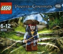 flying dutchman lego LEGO 30133 Pirates of the Caribbean / Fluch der Karibik: Captain Jack Sparrow (Dreispitz & blaue Weste) im Polybeutel