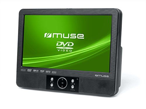 Muse M-920 CVB tragbarer DVD-Player Auto, Plastic, Schwarz (Twin Dvd-player Für Auto)