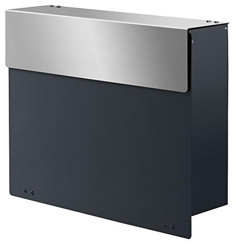 frabox Design Briefkasten ARLON Anthrazitgrau/Edelstahl