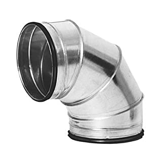 Galvanised Ducting Safe Fabricated (in segments) 90 degree Bend 250mm