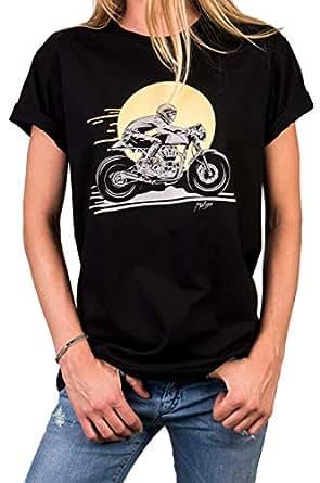 USA Totenkopf T-Shirt Herren American Flagge Biker Motorrad Rider