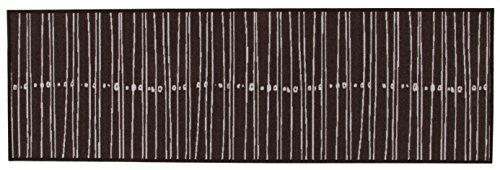 Teppichläufer Linien, liniert - gestreift, waschbar, in 2 Farben und 2 Größen (57x200, Braun)
