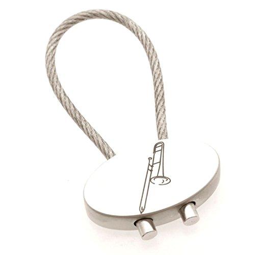 Schlüsselanhänger Posaune aus Metall (oval) - Schönes Geschenk für Musiker
