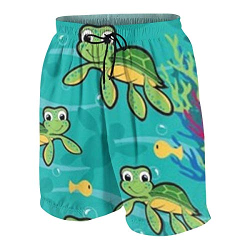 Pillow Socks Hawaiian Baby Turtle Boys Beach Shorts Quick Dry Beach Swim Trunks Kids Swimsuit Beach Shorts,Essentials Boys' Woven Shorts L (Russell Shorts Boys)