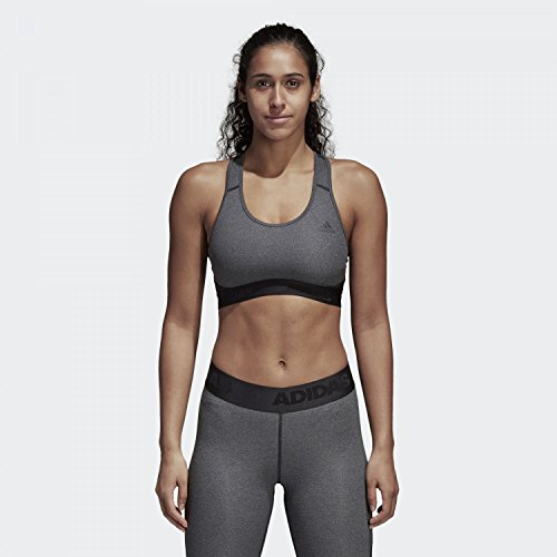 adidas Damen Don't Rest Alphaskin Sport-Bh, Dgreyh/Black, - Trainer-bh