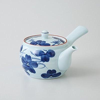 Saikai poterie Bleu et blanc Motif fleur Théière Japon Hasami fabriqué 99335