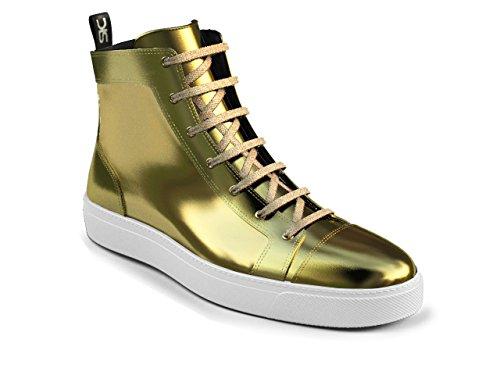 DIS - Gianmarco - Sneakers Hautes - Unisexe Or