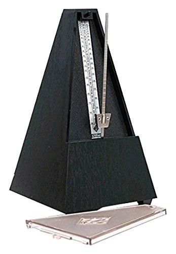Wittner Taktell Pyramidenform Metronom Kunststoffgehäuse mit Glocke schwarz