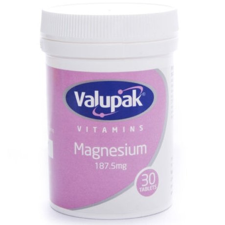 Valupack 187.5mg Magnesium Tablets - 30 Tablets Test