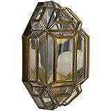 Aplique Granadino Artesanal para Rincon Modelo Bizantino 7018/1EVTR (Envejecido -Cristal Transparente)