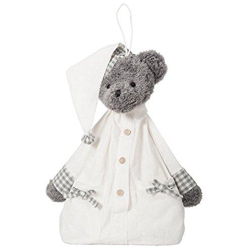 Grand Ourson Range-Pyjama Couches MARCHAND DE SABLE Gris Blanc Ours Bébé - Mathilde M