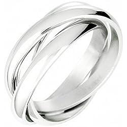 Ecloud Shop Anillo cruz tricíclicos Triple bodas de plata de la banda de la Mujer