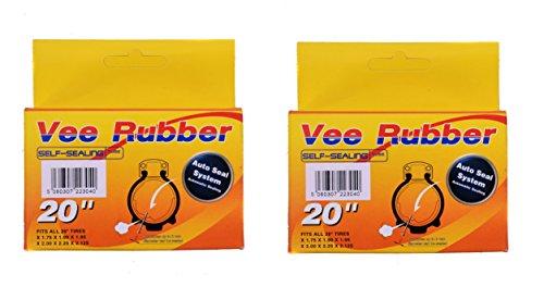 Paio (2) autosigillante interni tubi 20X1.75-20x 2,125, valvola automatica BMX, cartelle, bambini. Confezione (Boxed Tubo)