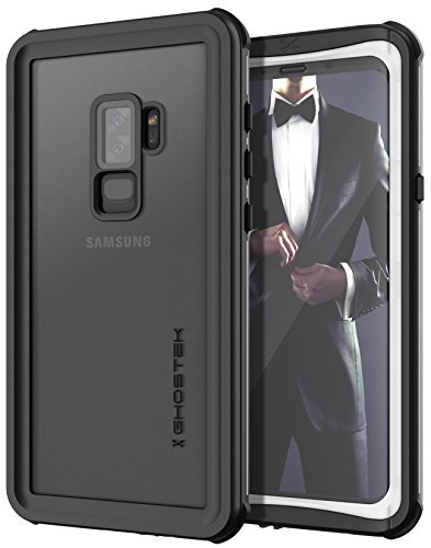 ghostek Nautisches Rugged Armor Wasserdicht Fall kompatibel mit Galaxy S9Plus S9+, weiß