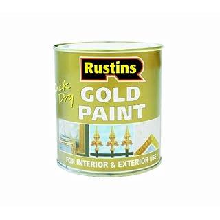 Rustins Goldlack für Holz und Metall, schnelltrocknend, Gold, GOLE250