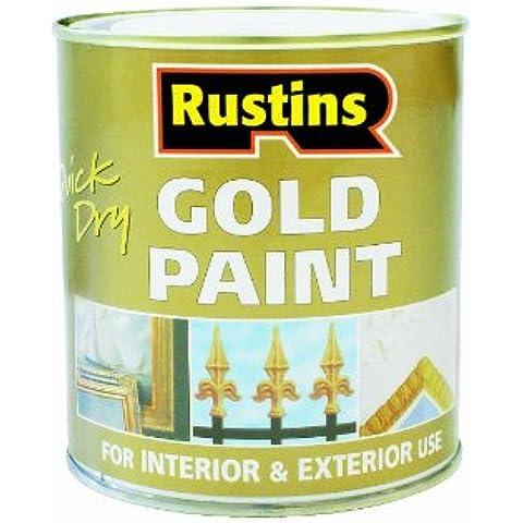 Rustins - Vernice ad asciugatura rapida per legno e metallo, colore: Oro 250 ml