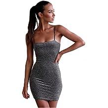 Vestido de mujer, ♡Xinantime♡ Vestido sexy de mujer Vestido sin mangas