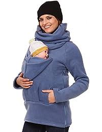 Happy Mama. Mujer sudadera portador de bebé delantera espalda forro polar. 030p