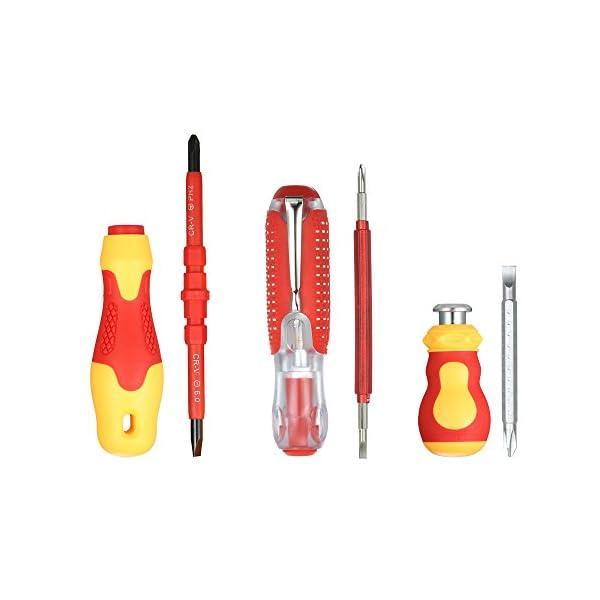 KKmoon-10pcs-1000V-Set-di-Cacciaviti-Isolati-con-Intaglio-Magnetico-e-Punte-Phillips-Soft-Grips-Elettricisti-Strumenti-di-Riparazione-del-Lavoro-Elettrico