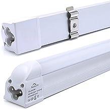 2 piezas, G5 de casquillo, 8W 60CM 2835 SMD T5 LED Tubo Fluorescente Lamapra Luz Blanco frío, 810 lm, 6000K, AC100-240V, Hasta un 90% Menos de Coste de la Electricidad