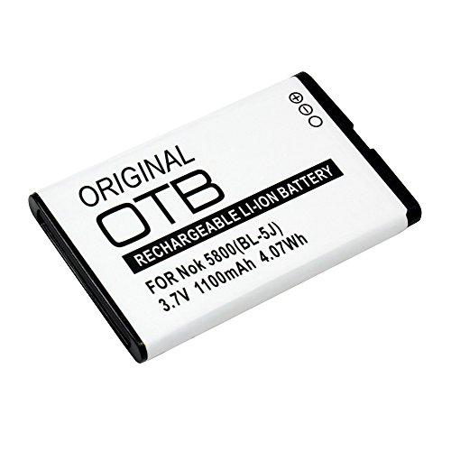 OTB Accu Pour Nokia 5230, 1100mAh, Remplace: Nokia BL-5J;
