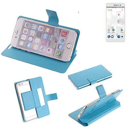 K-S-Trade Flipcover für Thomson Delight TH201 Schutz Hülle Schutzhülle Flip Cover Handy case Smartphone Handyhülle blau