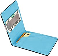 GPCT Bifold [Synthetic Leather] ID Wallet W/ Money Clip for Men/Boys. Compact [Lightweight] Built in 4 Card Clots & Keeps Everything Organized/Nearby (Blue)